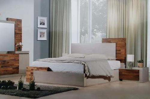 EMBRACE  QUEEN 3 PIECE  BEDSIDE  BEDROOM SUITE (12-9-26-1) - ARTISAN OAK / NATURAL