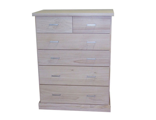 BAYSIDE (CBY306) TALLBOY 1180(H) x 950(W) - WHITE, ANTIQUE WHITE, WHITEWASH & BRUSHED COLOUR OPTIONS