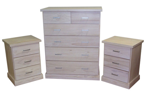 BAYSIDE (CBY103/CBY306) 3 PIECE CHEST SET - WHITE, ANTIQUE WHITE, WHITEWASH & BRUSHED COLOUR OPTIONS