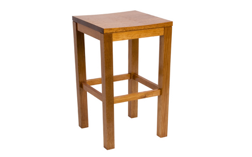 BREAKFAST BAR STOOL WITH TIMBER SEAT - SEAT: 670(H) - GREYWASH , HONEY , WALNUT