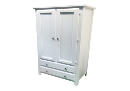 MANILLA 2 DOOR / 2 DRAWER WARDROBE WITH SMOOTH DOORS AND SIDES -  1900(H) X 960(W) - ASSORTED TIMBER COLOURS (NOT AS PICTURED)