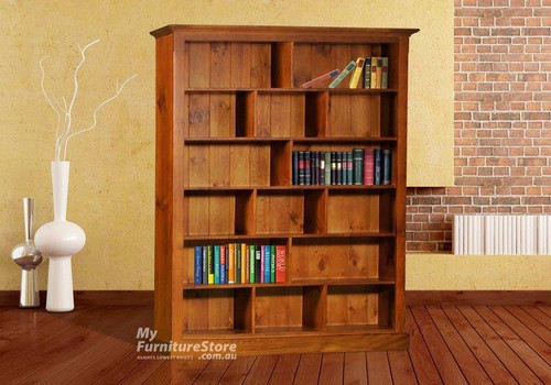 (UF) PIGEON BOOKCASE 2 SPACE ON TOP - 2000(H) x 1200(W)  - ASSORTED COLOURS
