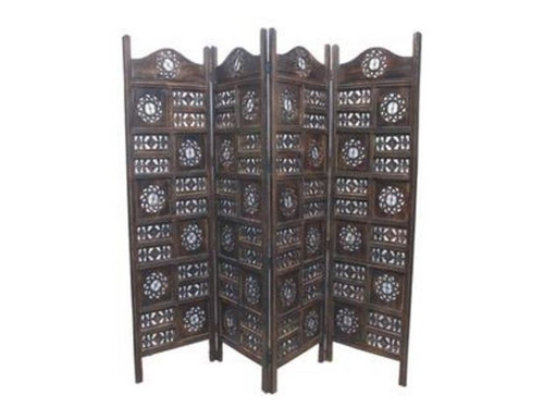 JAMIN CIRCLE TIMBER SCREEN / ROOM DIVIDER (WOWP-010) - BURNT