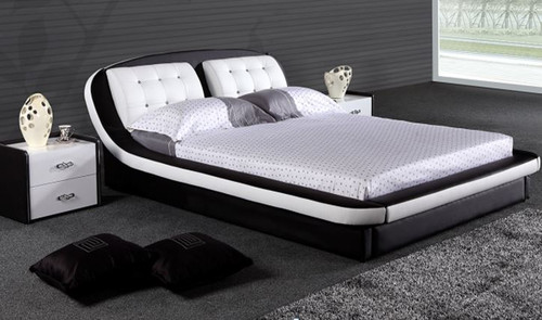KING  SWAHILLY  LEATHERETTE BED ONLY (G1028#) - ASSORTED COLORS
