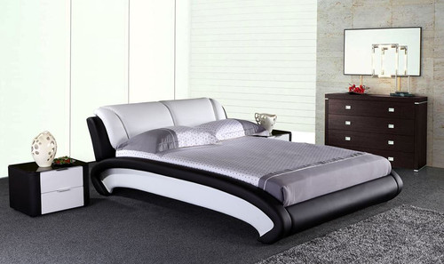 QUEEN WOLVER  LEATHERETTE BED ONLY (G1026#) - ASSORTED COLORS