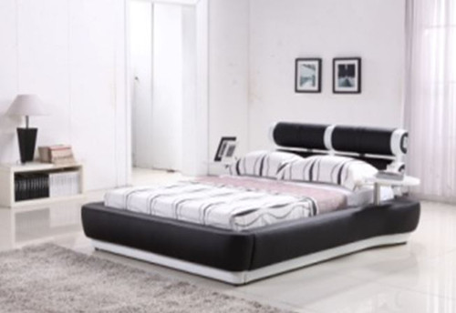 QUEEN SALFORD  LEATHERETTE BED ONLY  (G992#) - ASSORTED COLORS