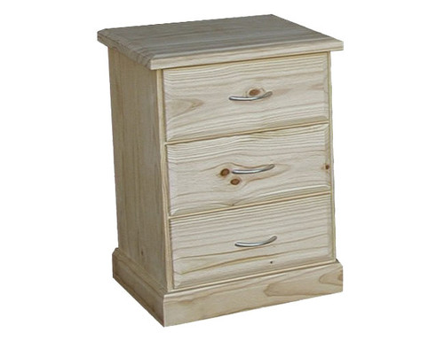 AVOCA CAV103 3 DRAWER BEDSIDE - ASSORTED COLOURS AVAILABLE