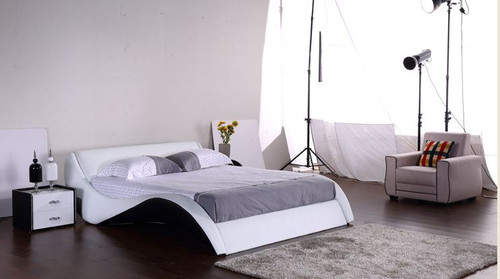 KING  MARINA LEATHERETTE BED (G1063#) - ASSORTED COLORS