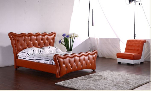 KING PROSPER LEATHERETTE BUTTONED BED (G1068#) - ASSORTED COLORS