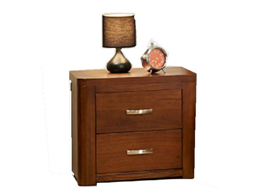 GLADSTONE  2 DRAWERS  BEDSIDE TABLE   -  AS PICTURED
