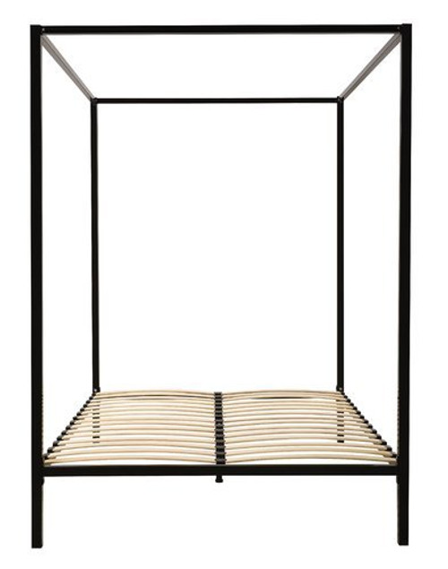 DOUBLE  ADEN  4 POSTER METAL BED ( 817853) -   BLACK