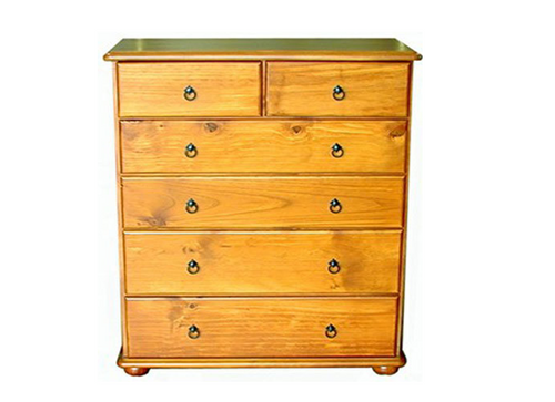 SAHARA CSH306 6 DRAWER TALLBOY -  1165(H) X 950(W)- ASSORTED COLOURS AVAILABLE