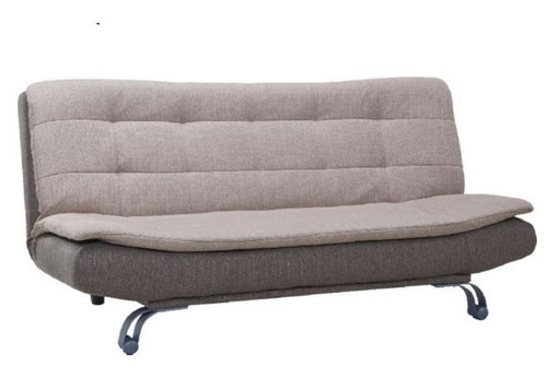 COSBY ( VCLK-008) CLICK CLACK  FABRIC SOFA BED (26-5-5) - BROWN