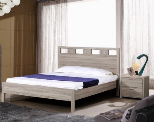 ARIZONA TIMBERGRAIN  DOUBLE OR QUEEN 3 PIECE BEDSIDE BEDROOM SUITE (FIXED)  - LIGHT OAK