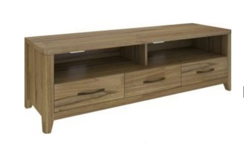COSMO HARDWOOD ENTERTAINMENT UNIT WITH 3 DRAWERS  (VCO-008) - 550(H) x 1650(W) - NATURAL OAK