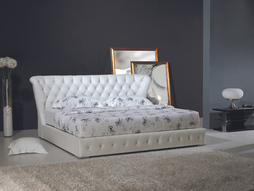 KING ANGELINA LEATHERETTE BED (618) - ASSORTED COLORS