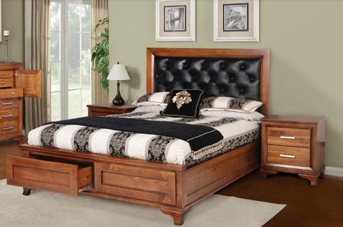 CASSIDY QUEEN 5 PIECE DRESSER  AMERICAN OAK  BEDROOM SUITE(3-1-13-4-5-14) - OAK