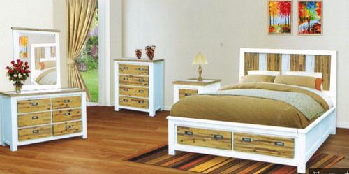 MERIDIEN 2 DRAWERS  BEDSIDE TABLE (MODEL- 1-3-20-15-14-1)