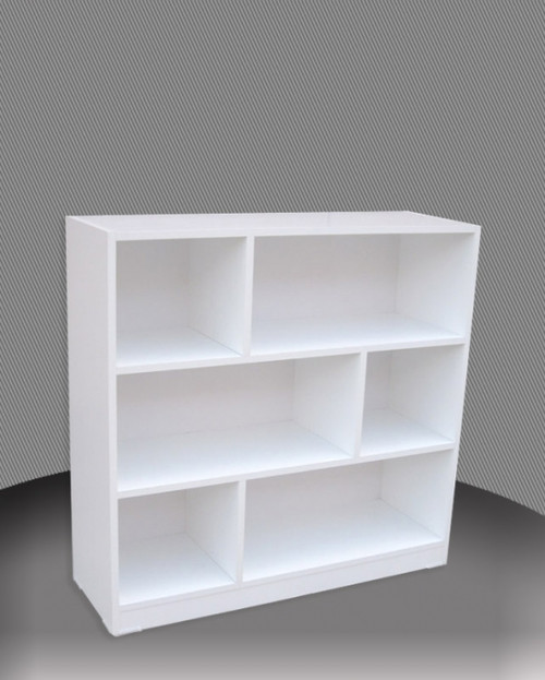 3FT STAGGERED BOOKCASE (ST3x4) - 860(H) x 1200(W) - ASSORTED COLOURS