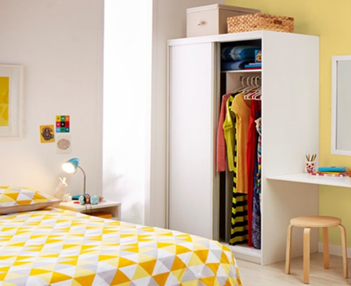 SERIES 120 PRE FABRICATED WARDROBE WITH  MELAMINE DOORS - 1200(H) X 2250(W) – ASSORTED COLOURS AVAILABLE