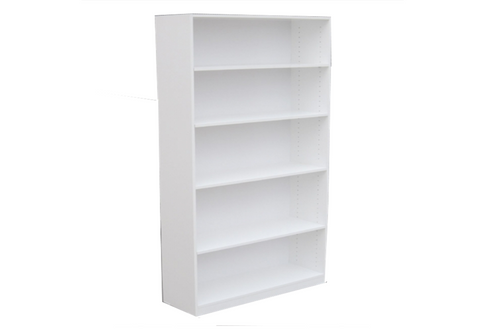 6FT HIGH BOOKCASE (6x3x18) - 1800(H) x 900(W) - ASSORTED COLOURS