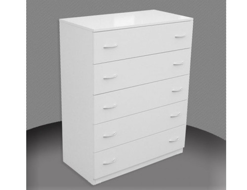 FAIRMONT 5 DRAWER /  WITH METAL RUNNERS (NOT AS PICTURED) - 1100(H) X 450(W) - ASSORTED COLOURS