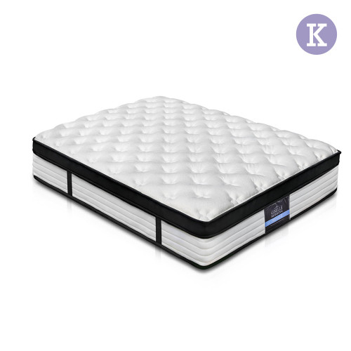 GIZELLE DOUBLE  EURO TOP POCKET  SPRING MATTRESS - MEDIUM