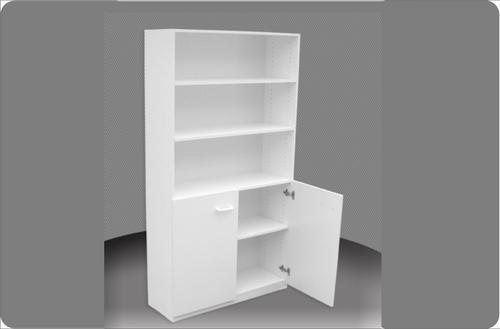 6FT HALF DOOR BOOKCASE (6x4D) - 1800(H) x 1200(W) - ASSORTED COLOURS
