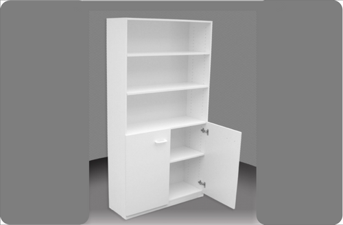 6FT HALF DOOR BOOKCASE (6x3D) - 1800(H) x 900(W) - ASSORTED COLOURS