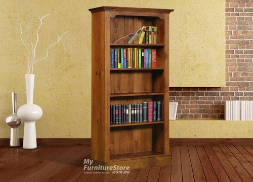 COLONIAL / FEDERATION BOOKCASE (6 X 2) - 1800(H) X 600(W) - ASSORTED COLOURS
