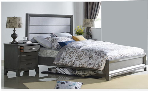 QUEEN  MIDASCO  (612) BED     (MODEL - 10-13-19-12-25-14) - GREY