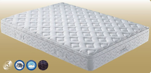 QUEEN ORTHOZONE CONTINUOUS SPRING ENSEMBLE (MATTRESS & BASE) (VMT-004) WITH BODY CARE (SWB) BASE - GENTLY FIRM
