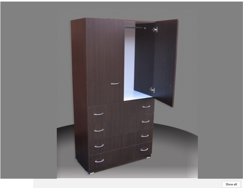 2FT CHILDS WARDROBE (CW24D-D4DRW) 2 DOOR / 4 DRAWER WITH METAL RUNNERS - 1800(H) X 600(W) -  ASSORTED COLOURS AVAILABLE