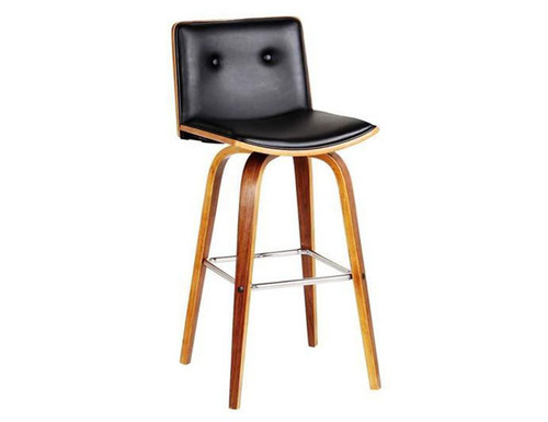 MOJO BENTWOOD BAR STOOL - SEAT:700 (SEAT) - BLACK / WALNUT
