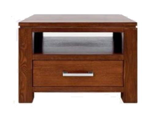 GRACE (1) ONE DRAWER  LAMP TABLE (19-15-6-9-1) 600(W) - BLACKWOOD OR WALNUT