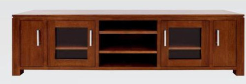 GRACE (2) TWO DRAWER   TASMANIAN OAK ENTERTAINMENT UNIT  WITH DVD - (19-15-6-9-1)-  600(H) X 2000(W)- BLACKWOOD OR WALNUT