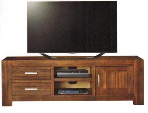 EMILY HARDWOOD MEDIUM TV UNIT  WITH 1 DOOR , 2 DRAWER , 2 NICHES -600(H) X 1840(W)