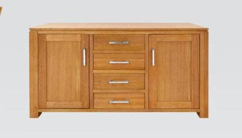 GRACE 2 DOORS 4 DRAWER TASMANIAN OAK BUFFET - (19-15-6-9-1) - 870(H) X 1450(W)  - BLACKWOOD OR WALNUT