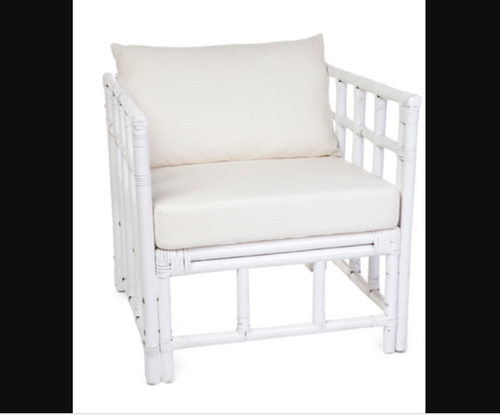 BOX RATTAN CHAIR (KNOCK DOWN) - (DET770) - WHITE