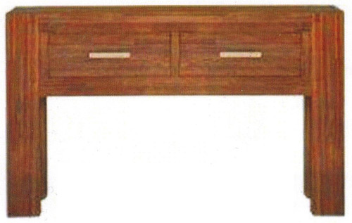 EMILY (2) TWO DRAWER ACACIA SOFA  TABLE - 820(H) X 1340(W x  380(D)