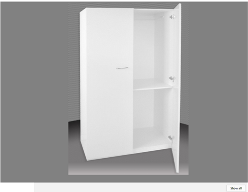 2FT CHILDS HALF HANGING 1 DOOR ROBE (BCAHALF24-1) (NOT AS PICTURED) - 1800(H) X 600(W) -   ASSORTED COLOURS AVAILABLE