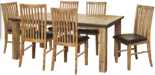 CEMBER  7 PIECE HARDWOOD DINING SETTING WITH 1800(L) X 1000(W) TABLE -  16-15-18-20-12-1-14-4)