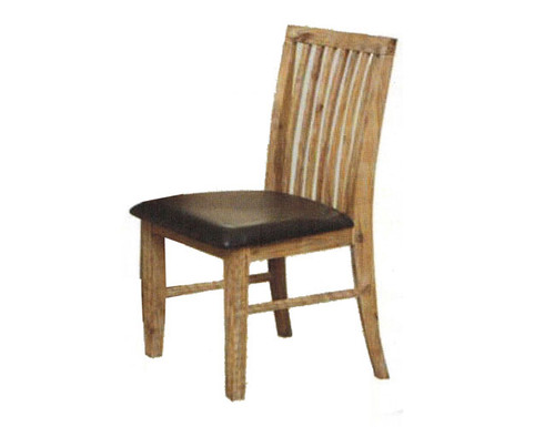 CEMBER  DINING CHAIR WITH LEATHERETTE UPHOLSTERED SEAT- (16-15-18-20-12-1-14-4)