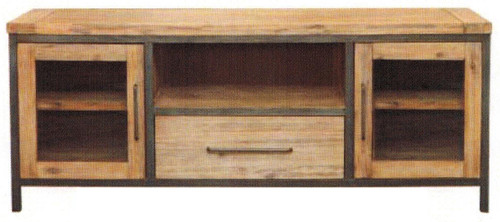 CEMBER MEDIUM TV UNIT  WITH 1DOOR , 1 DRAWER - ( 16-15-18-20-12-1-14-4) - 1690(W) - WALNUT