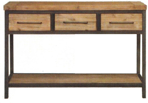 CEMBER CONSOLE TABLE WITH THREE DRAWERS -780(H) X 1165(W X  420(D) - ( 16-15-18-20-12-1-14-4) - WALNUT
