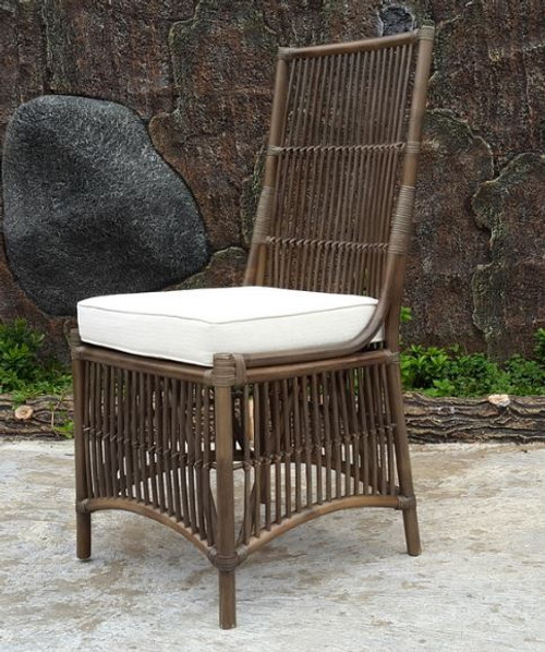 COLOMBUS CANE HIGH BACK DINING CHAIR (DET-817) - GREY