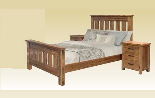 ZIRA KING 3 PIECE BEDSIDE BEDROOM SUITE (1-18-9-26-15-14-1) - TASSIE OAK