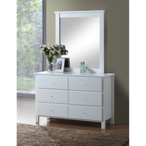 EMPRESS DRESSING TABLE WITH MIRROR (2-18-15-4-9-5) - WHITE