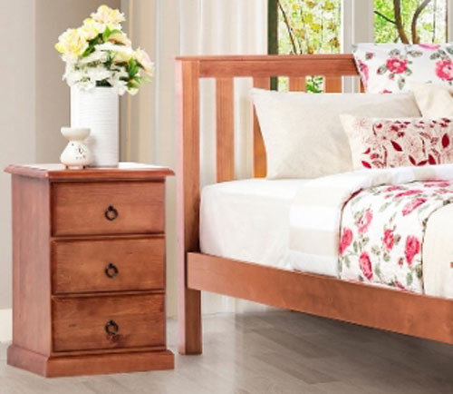 CARRINGTON (STANDARD) BEDSIDE - GOLDEN OAK