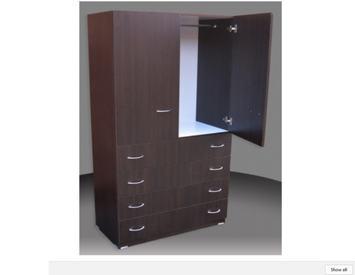 SUPERIOR FINISH 2FT ADULTS WARDROBE (CW24D-D4DRW) 2 DOOR / 4 DRAWER WITH METAL RUNNERS - 1800(H) X 600(W) -   ASSORTED COLOURS AVAILABLE
